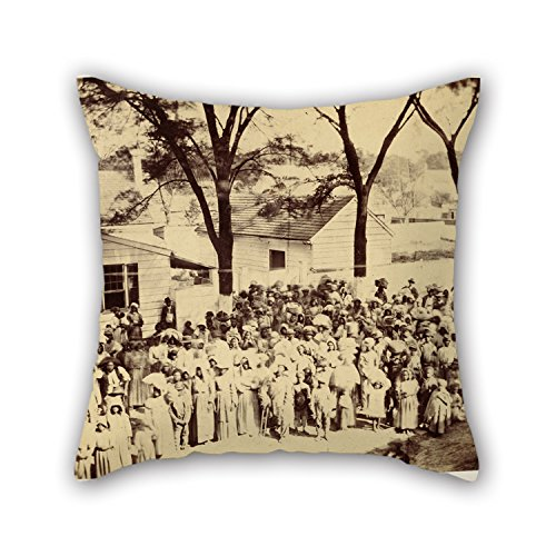 Alphadecor Oil Painting Timothy H. O'Sullivan (American - Slaves, J. J. Smith's Plantation, South Carolina Throw Pillow Covers 18 X 18 Inches / 45 By 45 Cm For Boy Friend (Jj Winters Multi Zipper)