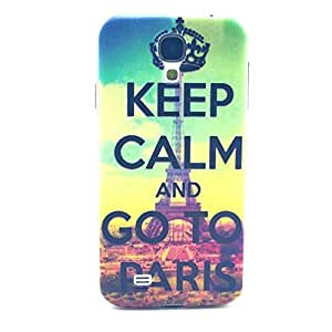 S4 Cases Galaxy S4 Case - LUOLNH Fashion Style Colorful Painted Keep CALM and Go To Paris Hard Case Back Cover Protector Skin for Samsung Galaxy S4 i9500 (Not for S4 Mini) by ruishername