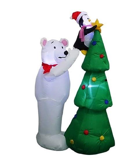 Amazon.com: Home Accents Holiday - Oso polar hinchable LED ...