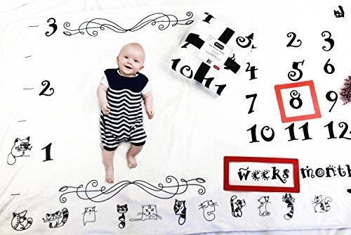 Baby Milestone Blanket by Verinca Fleece Soft & Large 60x40