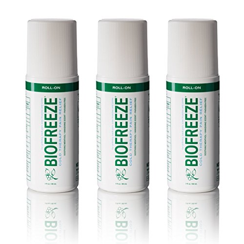Biofreeze Pain Relief Gel, 3 oz. Roll-On, Pack of 3