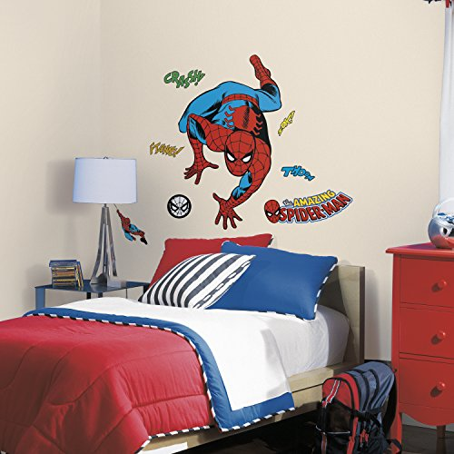 RMK3253GM Classic Spider-Man Comic Peel and Stick Wall Decals,