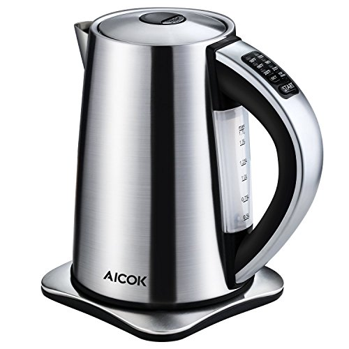 Aicok Electric Water kettle with 6 Preset Temperature Settings – 1.7 Liters