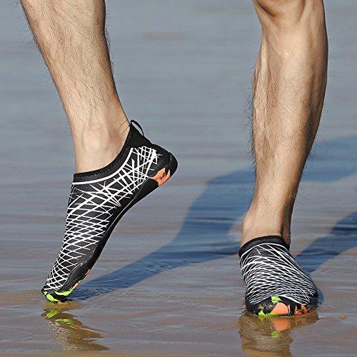 Acuáticos Unisex Agua Snorkel Surf Playa Speedeve De Zapatos Deportes Piscina Para Blanco Buceo Yoga Et1wxq7Ax