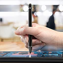Stylus Pen, BoxWave [AccuPoint Active Stylus] Electronic Stylus with Ultra Fine Tip for - Jet Black