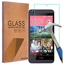HTC Desire 626 626s Screen Protector, NOKEA [Tempered Glass] with [9H Hardness] [Crystal Clear] [Easy Bubble-Free Installation] [Scratch Resist] (for HTC Desire 626)