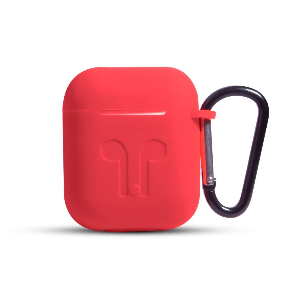 Funda de Silicona para Airpod Funda para Airpod con Llavero Funda de Goma de Silicona Suave port/átil antip/érdida para Auriculares inal/ámbricos Caja de Carga para aud/ífonos por: RAKADI Stores
