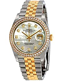 Datejust 36 Mother of Pearl Diamond Dial Ladies Steel and 18kt Yellow Gold Jubilee Watch 126283MDJ