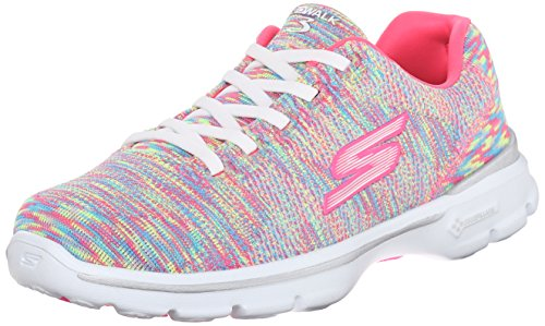 Skechers Performance Womens Go Walk 3 14068 Walking Shoe, Rainbow Multi, 7.5 M US
