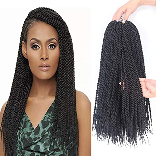 8 Packs Senegalese Twist Crochet Hair Braids 18 Inch 20 Strands/Pack Small Havana Mambo Twist Crochet Braiding Hair for Women Synthetic Hair Extensions (2#)