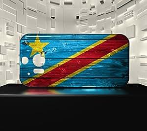 Funda Carcasa para HTC M8 Bandera REPÚBLICA DEMOCRÁTICA DEL CONGO 02
