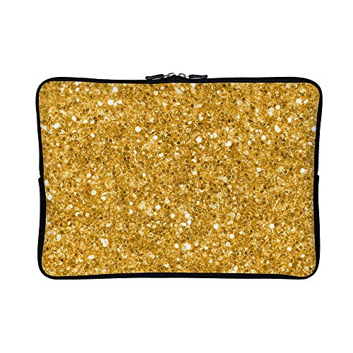 - DKISEE Abstract Gold Glitter Neoprene Laptop Sleeve Case Waterproof Sleeve Case Cover Bag for MacBook/Notebook/Ultrabook/Chromebooks