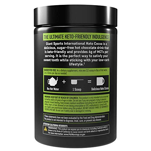 Keto Cocoa - Delicious Sugar Free Hot Chocolate Mix with 6g of MCTs for Appetite Suppressing Ketogenic Diet and Low Carb Lifestyle | No Gluten | 20 Servings 6