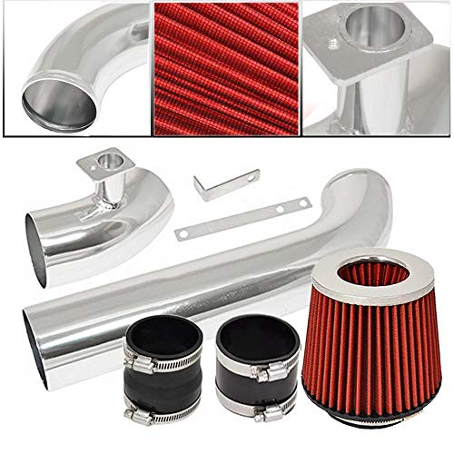 Rtunes Racing Short Ram Air Intake Kit Filter Combo RED For 98-05 BMW E46 3-Series