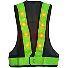 LED Reflective Vest Safety Outdoor Running High Visibility Reflector Clothing for Men, Women Best for Jogging, Biking, Walking, Motorcycle