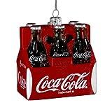 Kurt Adler 3-1/2-Inch Glass Coca-Cola Six Pack Ornament