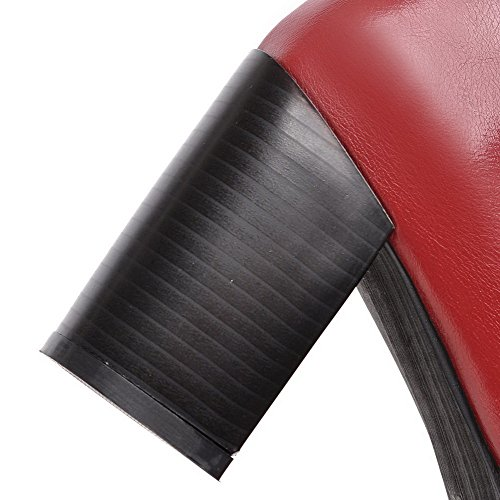 Allhqfashion Donna Tacchi Tinta Unita Tacco A Spillo Tacco Chiuso Scarpe-scarpe Claret