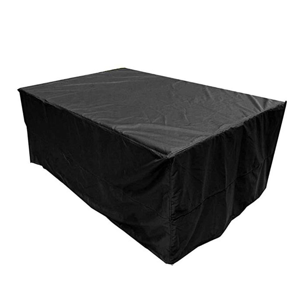 AING-COVER Copertura Protettiva Nero All'aperto Giardino Tavolo E Sedia Copertura Impermeabile, Disponibile Tutto L'Anno (colore   Nero, Dimensioni   325  208  58cm)