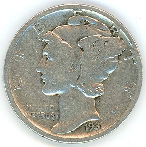 (1931 D Mercury Dime 10C Average Circulated)