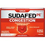 Sudafed PE Congestion Phenylephrine HCI Tablets - 18 ct, Pack of 2