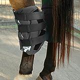Cashel Boomers Hock Sock Bandage Leg Wrap for Horse Black