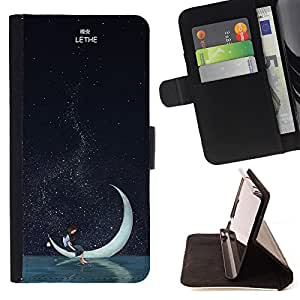 Dragon Case - FOR Samsung Galaxy S4 Mini i9190 - good night deer - Caja de la carpeta del caso en folio de cuero del tirš®n de la cubierta protectora Shell