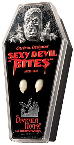 Dracula House Vampire Fangs - Sexy Devil Bites Medium Teeth for Halloween Costumes]()