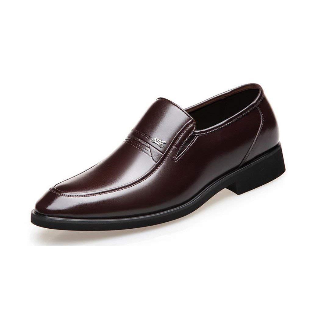 Mens Formale Schuhe 2018 Frühlings Herbst Herren Lederschuhe Business Casual Atmungsaktive Kleider Schuhe Mittleren Alters Sätze von Füßen Papa Schuhe,braun,43