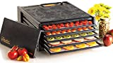 Excalibur 3500B 5-Tray Electric Food Dehydrator with Adjustable Thermostat Accurate Temperature Control Faster and Efficient Drying Includes Guide to Dehydration Made in USA, 5-Tray, Black