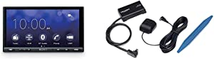 """Sony XAV-AX5000 Car Stereo Double Din Radio with Apple Carplay, Android Auto, Bluetooth, 7"""" Screen SXV300AZV1 Connect Vehicle Tuner Kit for Satellite Radio with Installation Tool"""
