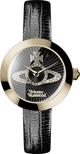 VIVIENNE WESTWOOD Ladies Watch # VV150GDBK ■ Color Dial Color: Black / Clear / Case Color: Gold / belt color: black parallel import goods