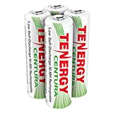 Tenergy Centura AA Low Self-Discharge (LSD) NiMH Rechargeable Batteries, 1 Card 4 x AA