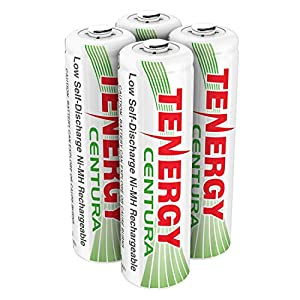 Tenergy AA Rechargeable NIMH Battery 2200mAh Pre-charged Household Battery Low Self Discharge High Performance AA Battery Pack for Camera/Remote Controller/Toys/Smoke Detector/Mice (4 PCS)