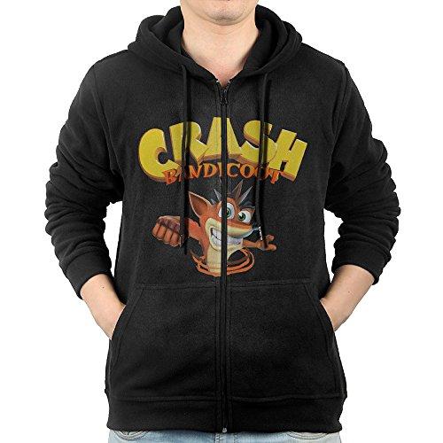 - KIHOYG Men's Crash Bandicoot Hooded Zip Front Sweatshirt