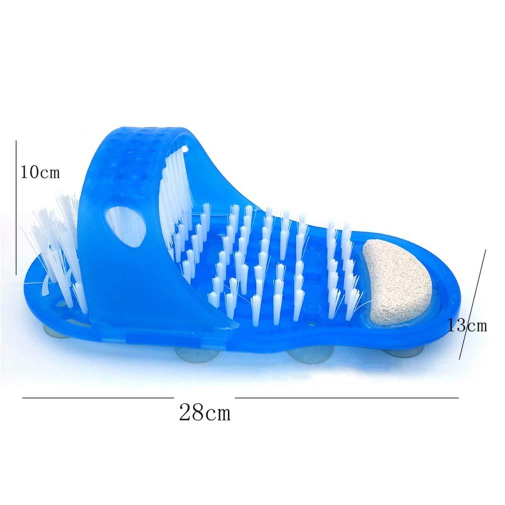 1 Paquete Chenqi Foot Scrub Scrubber Easy Feet Pl/ástico Zapato de ba/ño Cepillo de Ducha Masajeador Zapatillas Sin flexi/ón Pie Masajeador con Ventosa Lavabo f/ácil Ba/ño Exfoliante