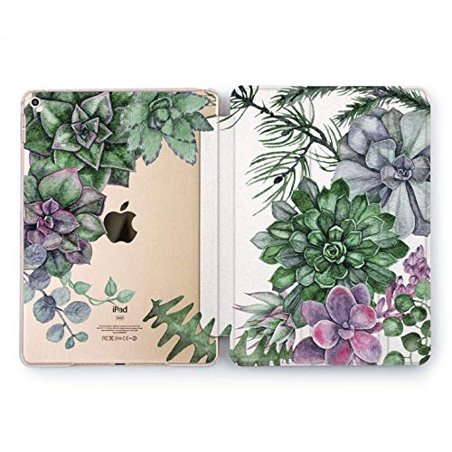 Wonder Wild Flower Succulent Apple iPad Pro Case 9.7 11 inch Mini 1 2 3 4 Air 2 10.5 12.9 2018 2017 Design 5th 6th Gen Clear Smart Hard Cover Leaf Transparent Print Watercolor Green Coverage Best