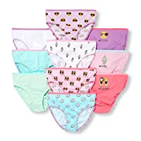 The Children's Place Big Girls' Brief (Pack of 10), White 6626, XL (14)