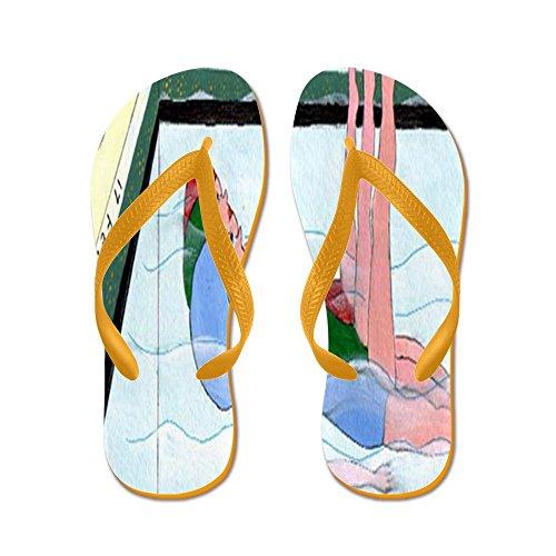 Cafepress Synchroonzwemmen - Flip Flops, Grappige String Sandalen, Strand Sandalen Oranje