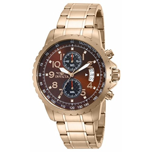Mens Specialty Brown Dial - Invicta 13786 Specialty Brown Dial Rose Gold Chronograph Watch