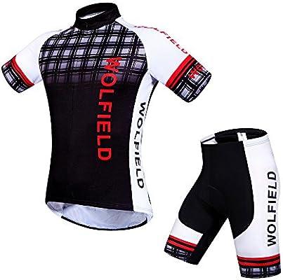 Amazon.com  Wolfbike Men s Cycling Short Sleeve Jersey 3fe03b5e5