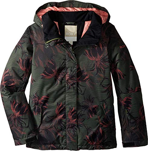 Roxy Little Jetty Snow Jacket, True Black_SWELL Flowers Girl, 10/M