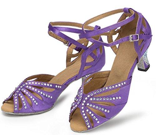 Talon Violet Professional satin ChaCha Chaussures Mode violet de danse nbsp;Womens Yfyc en Tango Chaton Latin CFP l162 gqRZzx
