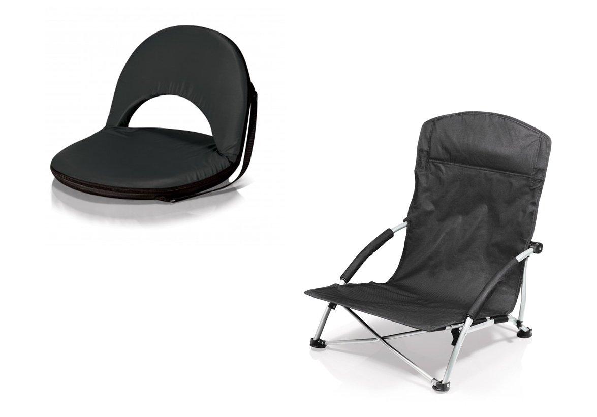 ピクニック時間OnivaリクライニングシートとTranquility椅子 – ブラック、2のセット B06XT8CZZQ