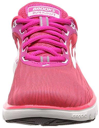 Femmes 1b684 Blanc De Rose Chaussures Pureflow rose Des Brooks Rose Course De 7 qEvwxT
