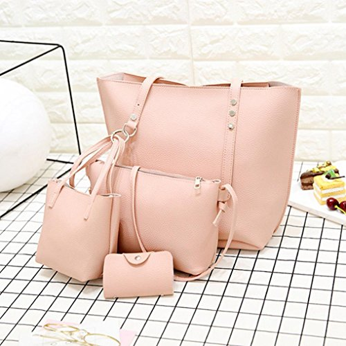 Shoulder Brown Bag Bag Leather Totes Women Pattern Hand Wallet Bag Logobeing Bags 4pcs And Casual Women Shoulder Crossbody 6qwqSU