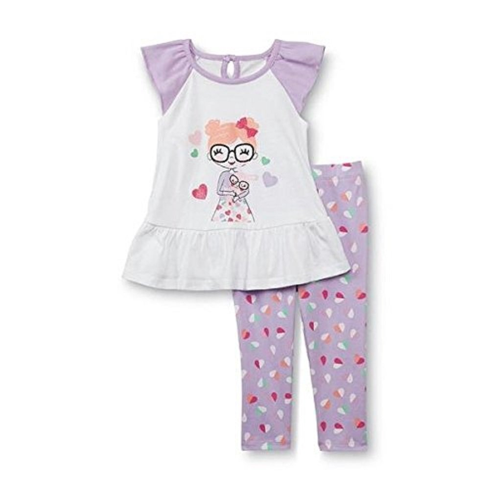 WonderKids Toddler Girls Graphic Tunic /& Leggings Bunny 4T