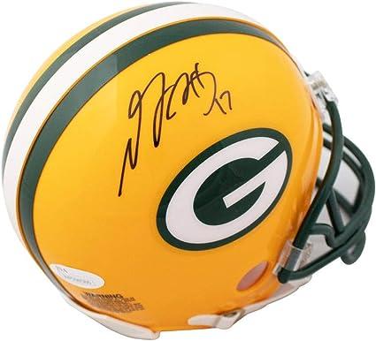 Davante Adams Signed Green Bay Packers Mini Amp Speed Replica Helmet JSA