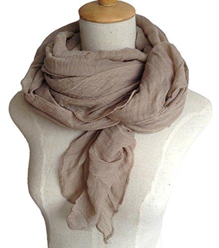 Spikerking Pure color cotton Hemp Silk scarf travel sunscreen scarf long Big scarves
