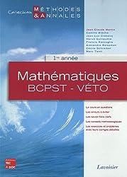 Mathématiques BCPST-Véto, 1e année