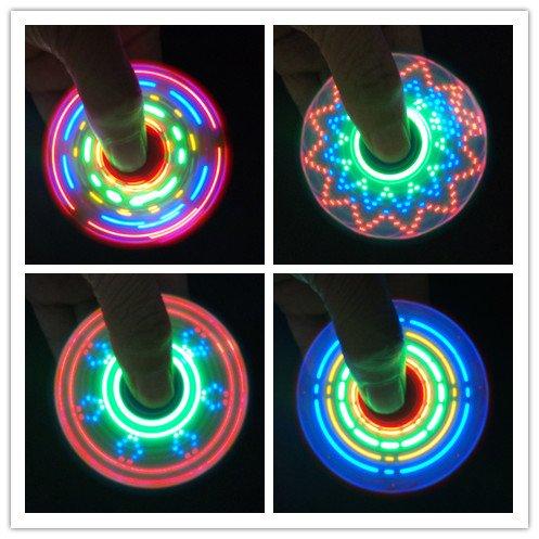 LED LAMP FIDGET SPINNER PATTERN (Red) (Best Led Fidget Spinner)